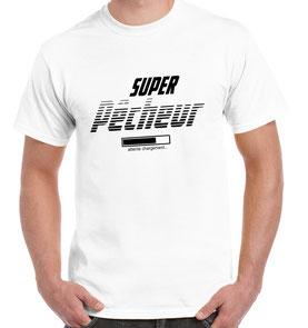 T-shirt blanc homour pêche