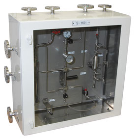 Mechatest Gas Sampling Solution in Sample Cabinet