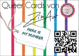 Flyer A6 zimart Queer-Cards