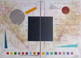 rigueur daluz galego peinture abstraite tableau abstrait abstraction