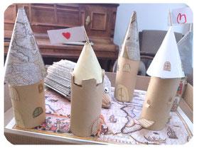 Bricolage enfant: le combo fatal hérisson/château,que faire avec des rouleau de papier toilette