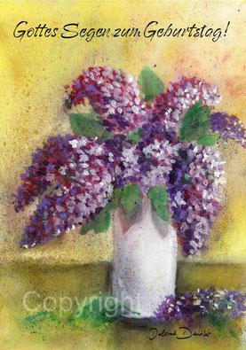 violetter Fliederstrauss Geburtstag