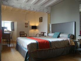 Suite Auguste, grand lit 160x200, vue sur le jardin
