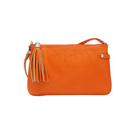 GALLUCHA MAROQUINERIE SAC A MAIN POCHETTE THAIS ORANGE