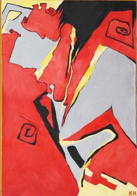 "Kovalenko Nadejda, ""Untrenbare Küsse"", Öl auf Leinwand,  80 x 55 cm, 2012, gerahmt, 1.400 €"