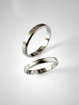wedding rings - white gold - Nelly Chemin