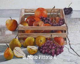 cassetta con frutta, olio su tela cm 40x50, 2011 - collezione privata
