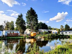 Lac étang mobil home camping pêche