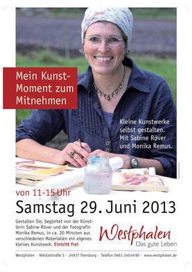 Flyer Veranstaltung Mein Kunst-Moment mit Sabine Röver bei Buchhandlung Westphalen