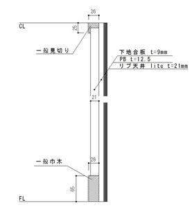 壁面の使用例