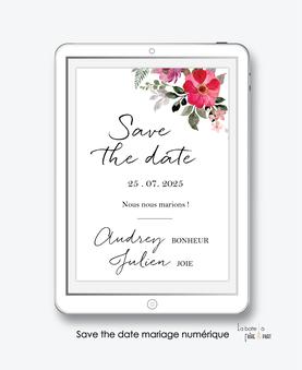 faire-part mariage numérique-faire part mariage digital-faire part numérique-pdf numérique-faire part mariage electronique -faire-part à envoyer par mms-par mail-réseaux sociaux-whatsapp-facebook-messenger-bouquet champêtre-pivoine-eucaliptus-format carré