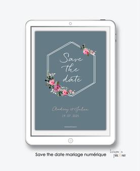 faire-part mariage numérique-faire part mariage digital-faire part numérique-pdf numérique-faire part mariage electronique -faire-part à envoyer par mms-par mail-réseaux sociaux-whatsapp-facebook-messenger-fleurs-bouquet champêtre-formes hexagonal-carré