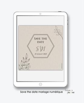 faire-part mariage numérique-faire part mariage digital-faire part numérique-pdf numérique-faire part mariage electronique -faire-part à envoyer par mms-par mail-réseaux sociaux-whatsapp-facebook-messenger-feuilles au trait-kraft-nature-simplicité