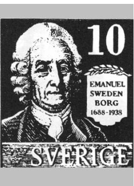 スウェーデンの切手に描かれたスウェーデンボルグ