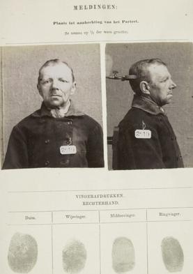 Signalementkaart Veenhuizen opname 28-05-1896