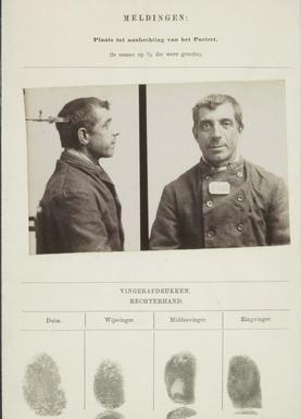 Signalementkaart Veenhuizen opname 16-09-1896