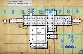グラストンベリー修道院跡を測地学で見ると…