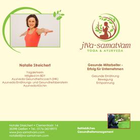 Flyer. Betriebliches Gesundheitsmanagement - Natalie Streichert