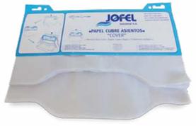 Paquetes de Cubre asientos Jofel y TITAN. 125 hojas. Color Blanco
