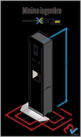 Live Safe il totem di monitoraggio digitale_ misure del dispositivo
