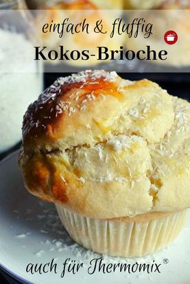 Kokos-Brioche #brioche #kokos #thermomixrezepte