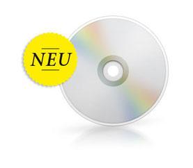 "Bildbeschreibung: Ein CD-Rohling mit dem Hinweis ""Neu"""