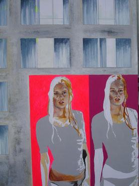 """""""Graue Gardinen"""" Arbeit Franziska Kuos aus dem Jahr 2014"""