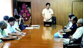 公聴会ルールを検討する調整会議が行われた=11日、石垣市役所