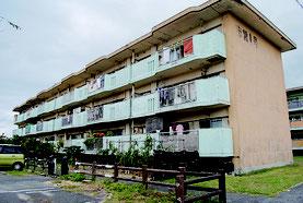 建て替えが予定されている市営新川住宅=8日午後