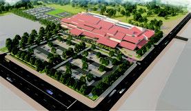 新庁舎の完成イメージ図(石垣市提供)
