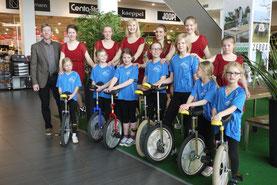 Die Einradlerinnen der RSG