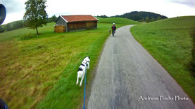 Beginn der Tour - Alpenvorland
