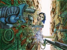 Schöne Aussichten I 2005 Thorsten Singer, Cyborg, Androide, Humanoide, Maschinen, Menschmaschinen