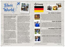 Bericht über Tobias im Stadionmagazin von Birmingham City.