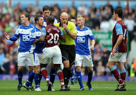 Action during the match Birmingham City against Aston Villa