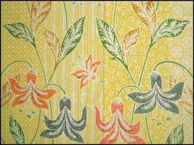 Textiil Yellow Floral Batik