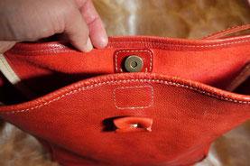 修理「お持ちのバッグにマグネットホックを取り付け」愛知県愛西市H様15092