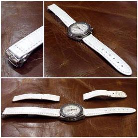 オーダーメイド「時計のベルト(白)」愛知県稲沢市H様15051