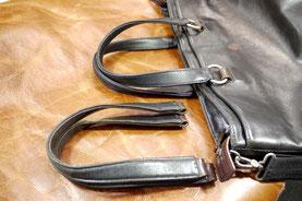 修理「ビジネスバッグの持ち手交換(黒)」三重県桑名市O様15088