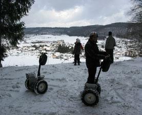 Winterausfahrt mit Segways von e-motion