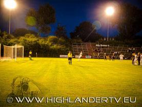 Der Abschiedselfmeter. Foto mit freundlicher Genehmigung von www.highlandertv.eu