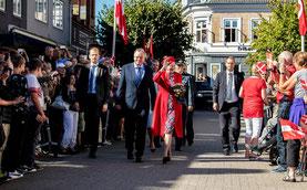 Dänemarks Königin Margrethe II. bei einem Besuch in Odsherred 2016. Foto: PR/Claus Starup/Odsherred Kommune