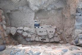 Kammer K10 mit Mauer ST345/M346.