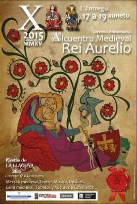 Cartel y programa de las Fiestas de La Laguna en El Entrego, San Martín del Rey Aurelio
