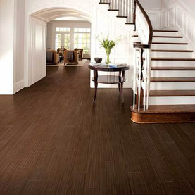 Ebony wood porcelain tiles