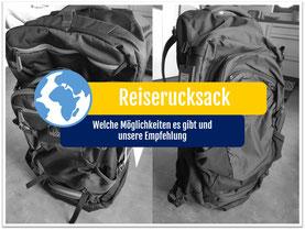 Weltreise Packliste Rucksack