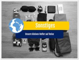 Weltreise Packliste Sonstiges