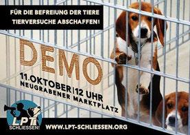 Gegen Tierversuche und jede Form der Tierausbeutung!