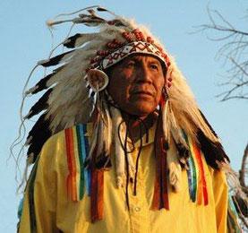 Arvol Lookinghorse, Träger der hl. Pfeife, Chief der Lakota, Dakota und Nakota