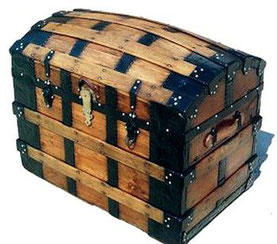 3 - OLD DOMED TRUNK